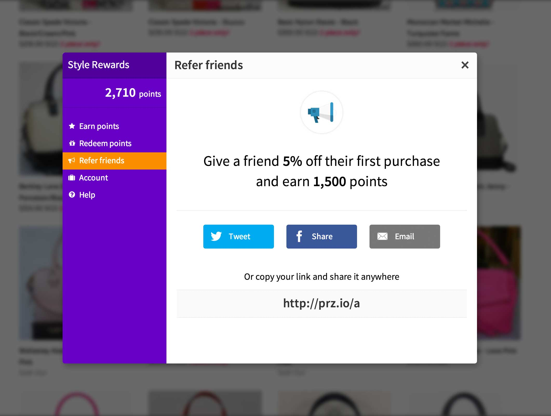 Acquire new customers using built-in referrals